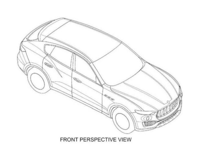 Maserati Levante patent image 1