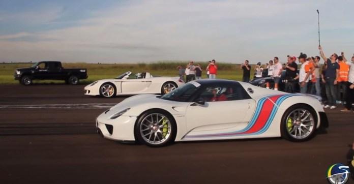 Porsche Carrera GT Vs Porsche 918 Spyder