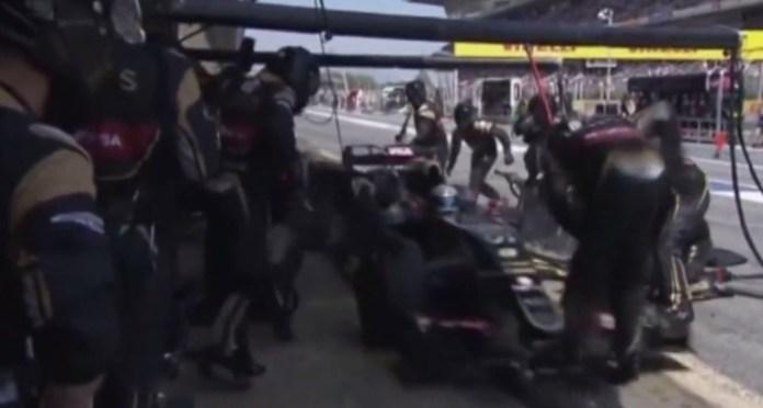 Romain Grosjean Pit Stop