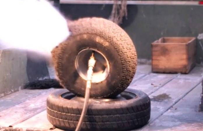 Tire Explosion