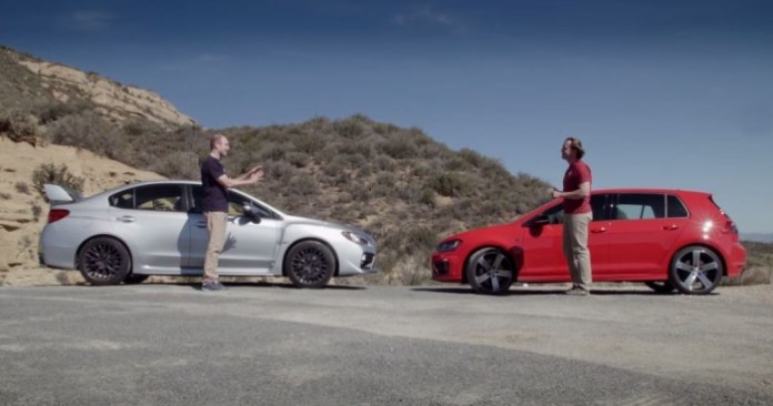 VW Golf R Vs Subaru WRX STi