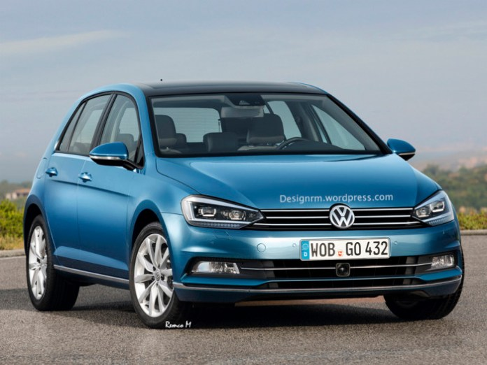 Volkswagen Golf 7 and Golf GTI Facelift renderings (1)