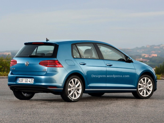 Volkswagen Golf 7 and Golf GTI Facelift renderings (2)