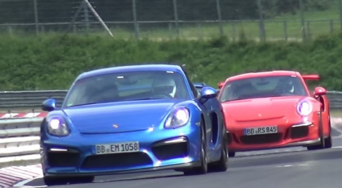 911 GT3 RS and Cayman GT4