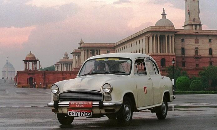 Ambassador car, India