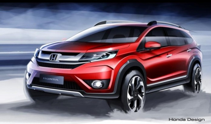 Honda BR-V official design sketch (1)