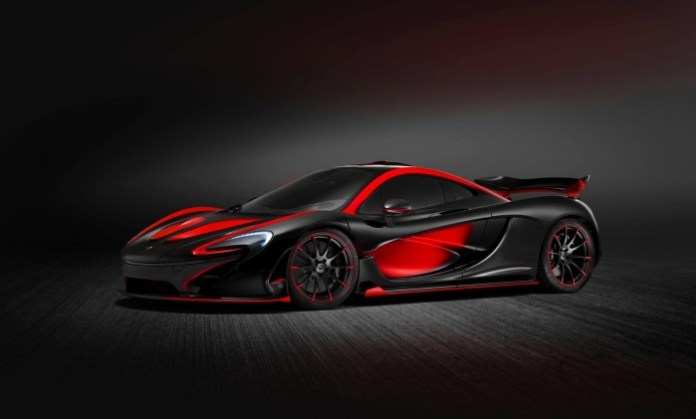 Matte Black and Red McLaren P1 MSO (1)