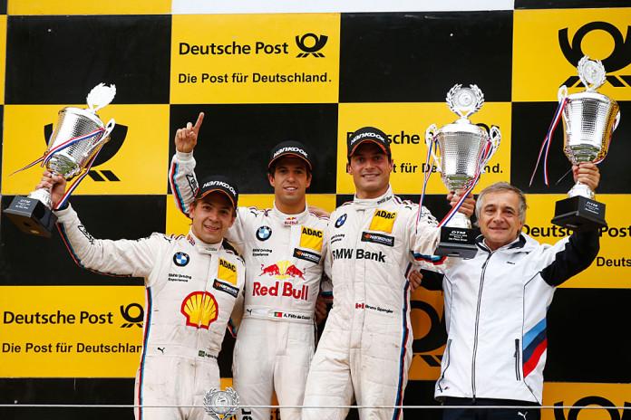 #18 Augusto Farfus, BMW M4 DTM, #13 António Félix da Costa, BMW M4 DTM, #7 Bruno Spengler, BMW M4 DTM