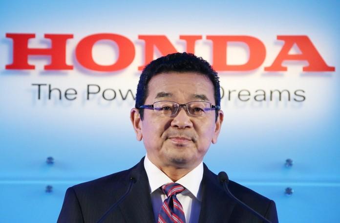 Honda Motor Co. President Takahiro Hachigo News Conference