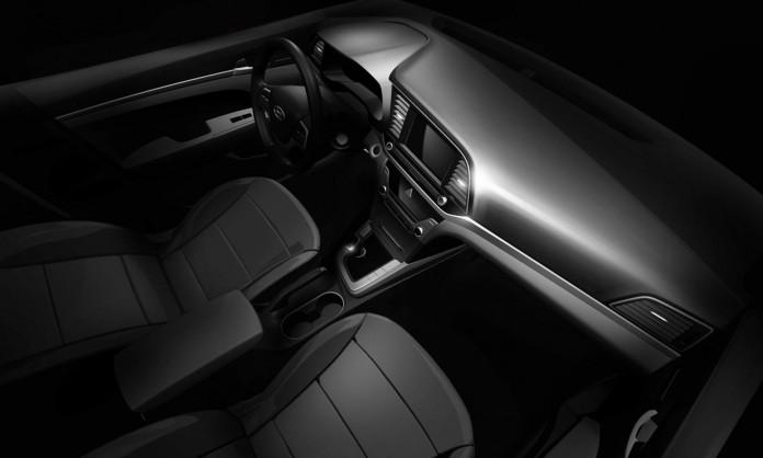 016 Hyundai Elantra interior teaser image