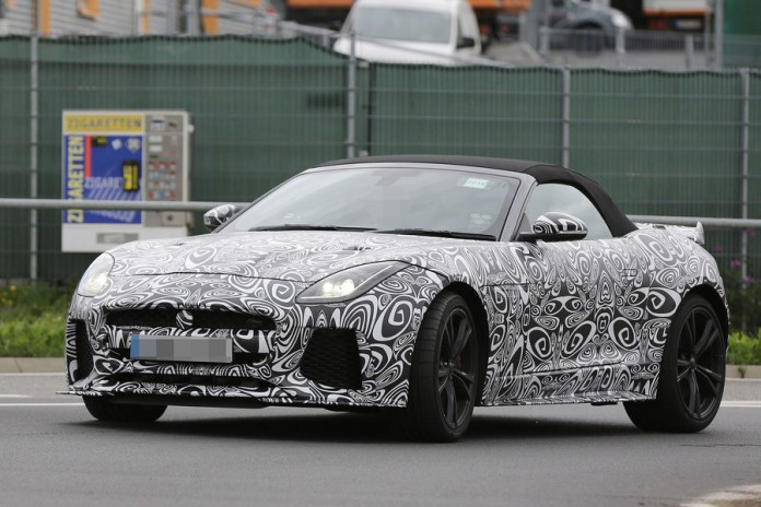 Jaguar F-Type SVR Convertible Spy Photos (1)