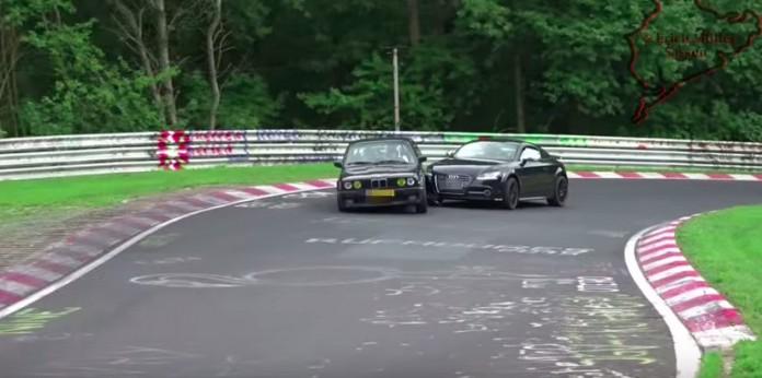 Nordschleife Audi TT and BMW E30 CRASH
