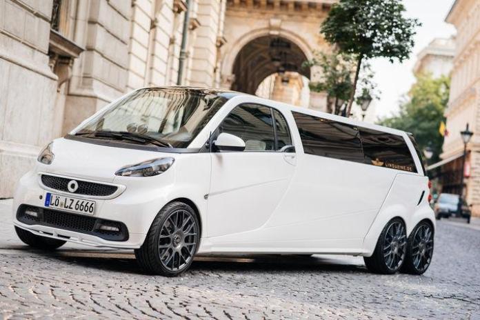Six-wheeled Smart limousine by Limouzine.de (11)