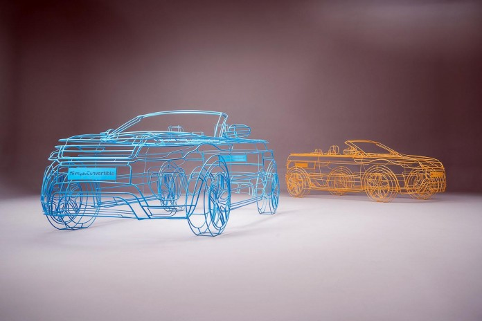 Land Rover Evoque Cabrio wireframe model 5