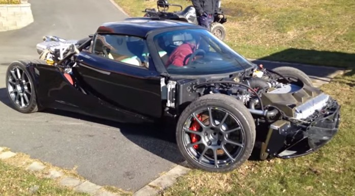 Lotus Exige with BMW M5 V10 Engine Swap