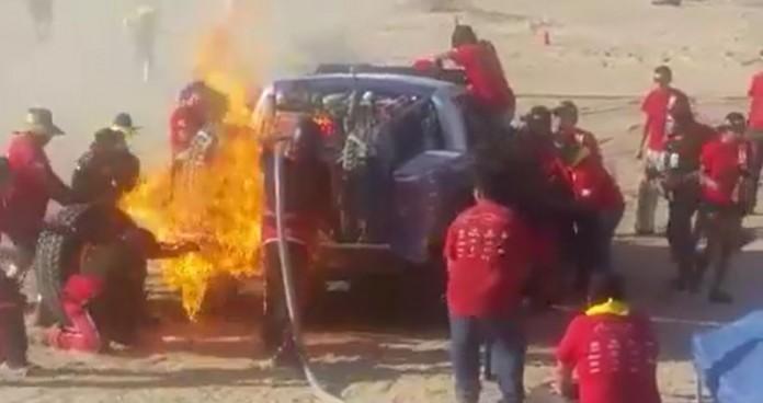 Race Truck Fire