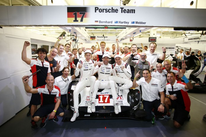 Porsche 919 Hybrid, Porsche Team: Brendon Hartley, Mark Webber, Timo Bernhard (l-r)