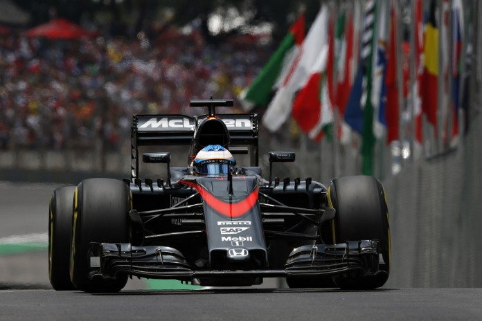 Fernando Alonso in action.