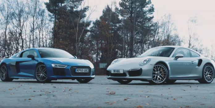 Audi R8 V10 Plus vs Porsche 911 Turbo