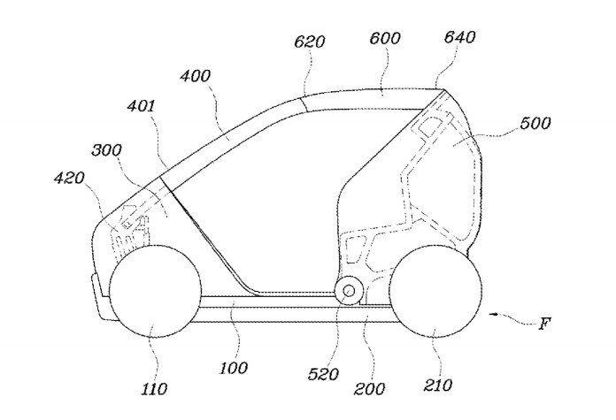Hyundai folding city car patents (1)
