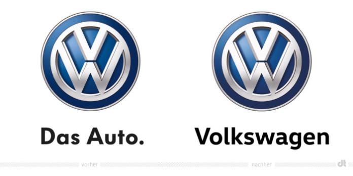 Volkswagen Logo – vorher und nachher B