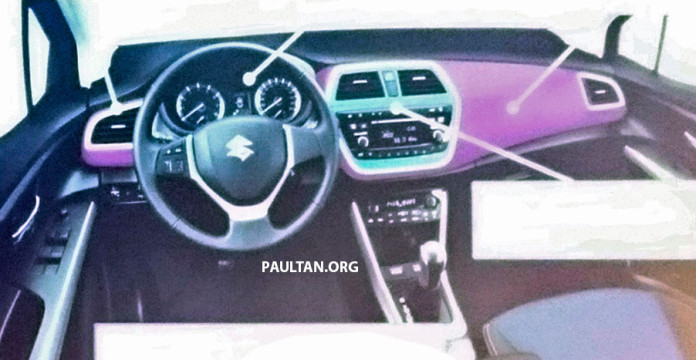 2016-Suzuki-SX4-S-Cross-Maruti-S-Cross-facelift-interior-leaked