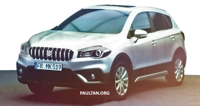 2016-Suzuki-SX4-S-Cross-Maruti-S-Cross-front-three-quarter-facelift-leaked
