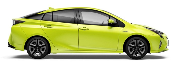 Toyota Prius with Thermo-Tech Lime Green (3)