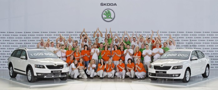 160329 One million third-generation sKODA Octavias produced