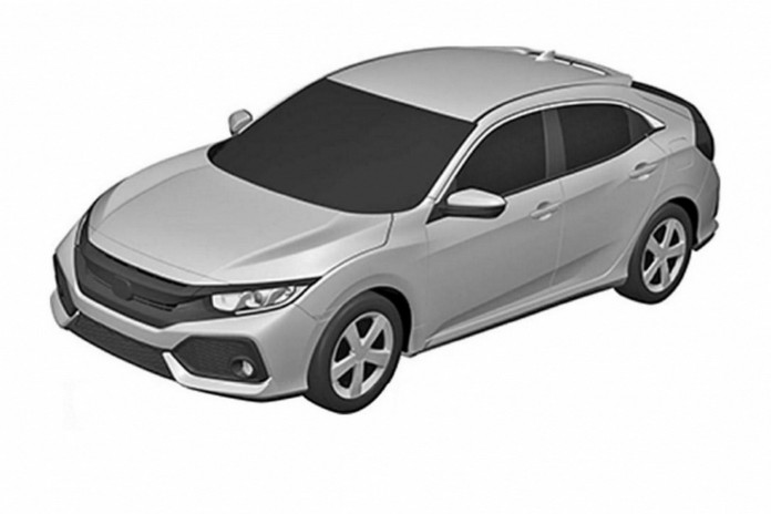 Honda Civic hatchback 2017 production version patents photos (1)