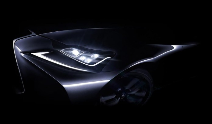 2017 Lexus IS facelift teaser