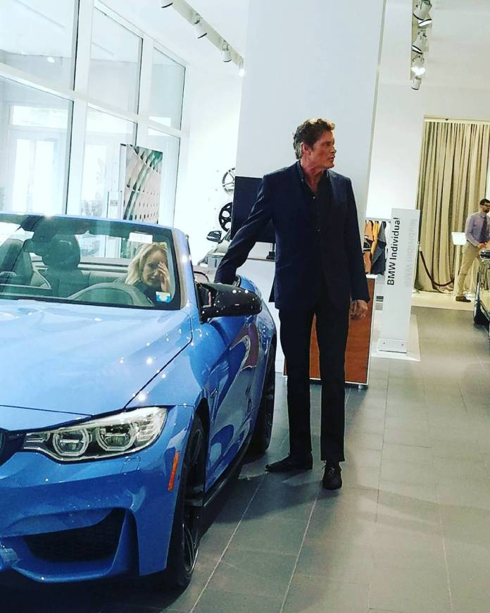 David Hasselhoff BMW M4