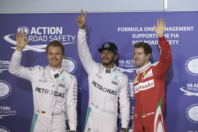 Hamilton-Rosberg-Vettel