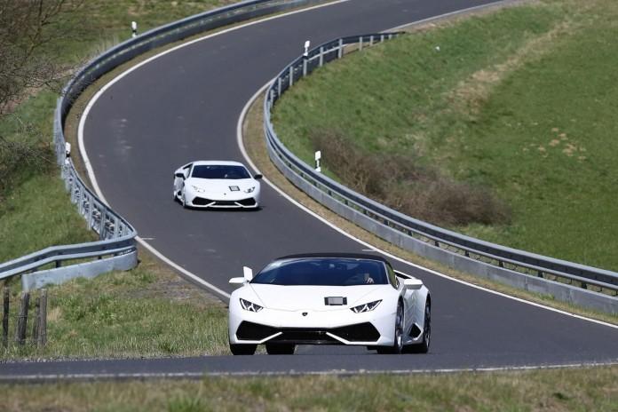 Lamborghini Huracan Superleggera mule spy photos (2)
