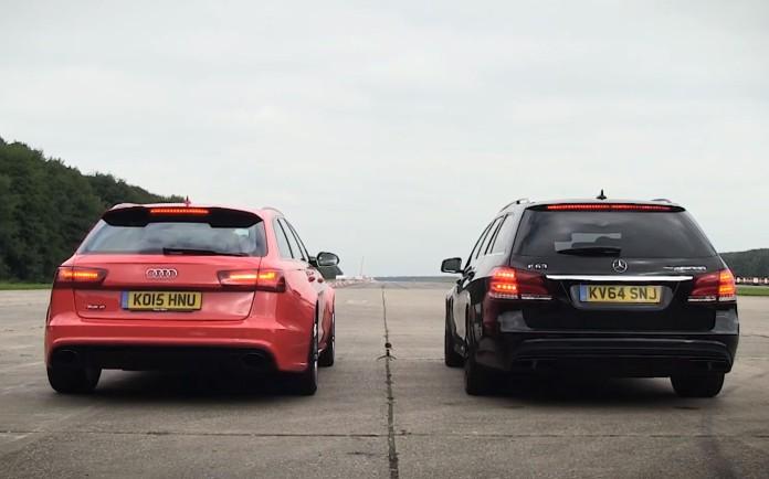 Mercedes E 63 AMG S Estate Vs Audi RS 6 Avant