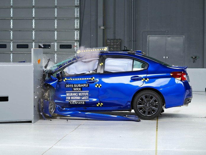 crast test 2015 Subaru WRX