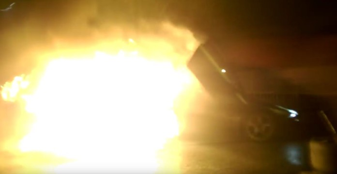Lamborghini flames