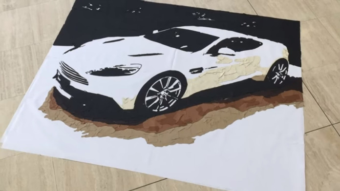 aston-martin-vanquish-art-made-from-leftover-bits-of-leather