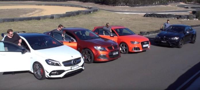 Audi RS3 Vs A45 AMG vs BMW M2 Vs HSV Clubsport