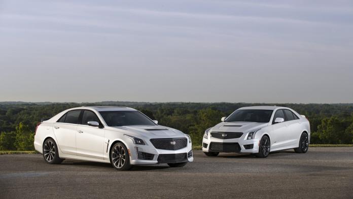 (L to R) 2017 Cadillac CTS-V super sedan and 2017 Cadillac ATS-V
