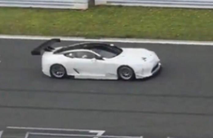 Lexus LC Race Car Spied