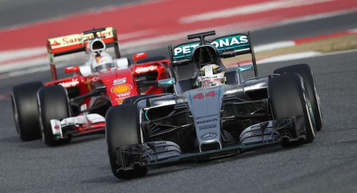 MERCEDES AMG PETRONAS, F1, Formel 1, Barcelona, Circuit de Catalunya-Barcelona, Testfahrten, Lewis Hamilton ;MERCEDES AMG PETRONAS, F1, Formula One, Barcelona, Circuit de Catalunya-Barcelona, Testing, Lewis Hamilton;