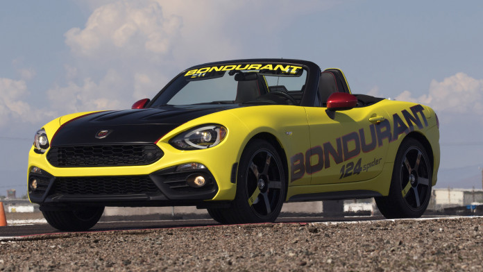 FIAT brand's Abarth models, including the all-new 124 Spider Abarth, join the lineup at the legendary Bob Bondurant School of High Performance Driving.
