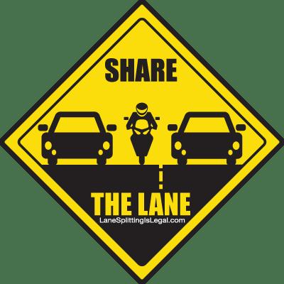 lane-splitting-share-the-lane-road-sign