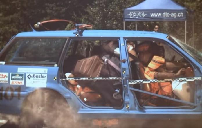 crash test luggage