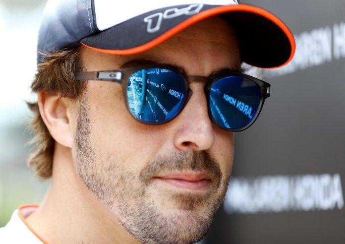 Fernando Alonso in the paddock.