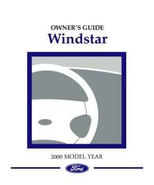 2000 FORD WINDSTAR Owners Manual