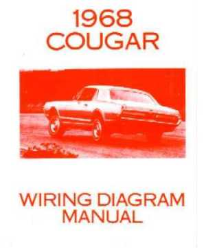 1968 MERCURY COUGAR Wiring Diagrams