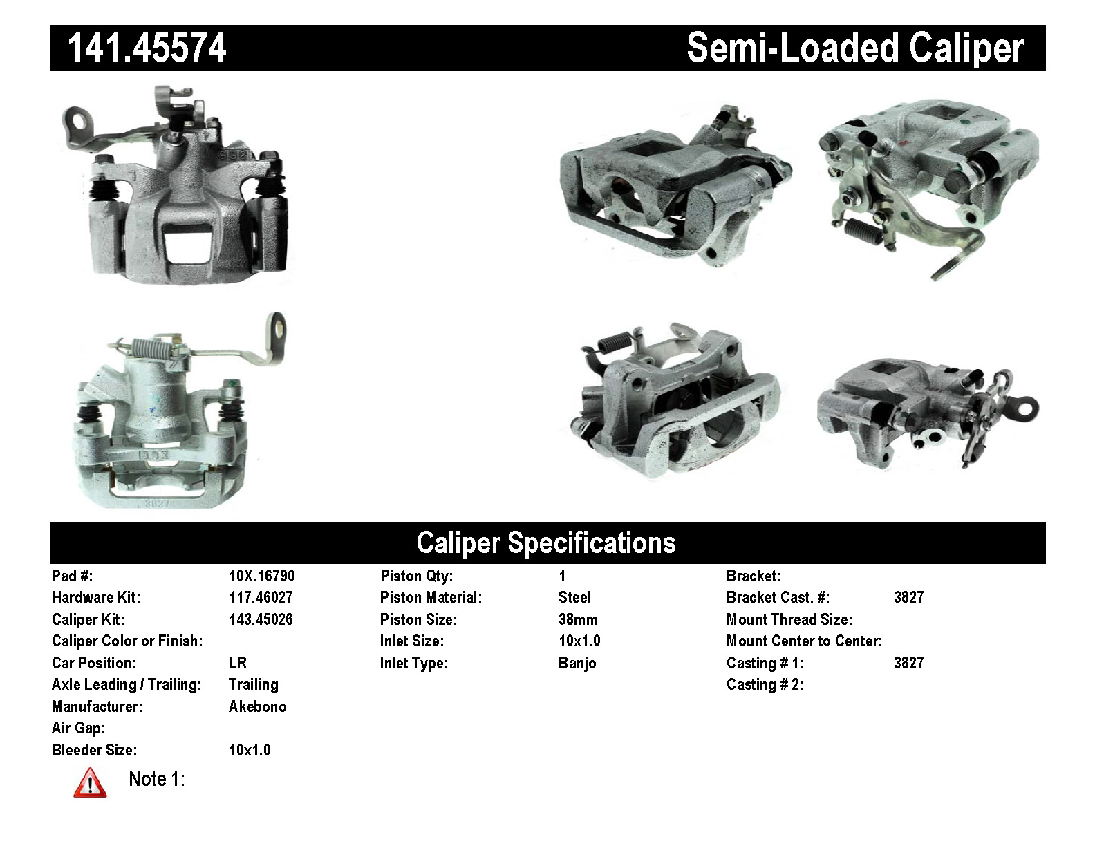 Rear Left Unloaded Rebuilt Brake Caliper Mazda 141