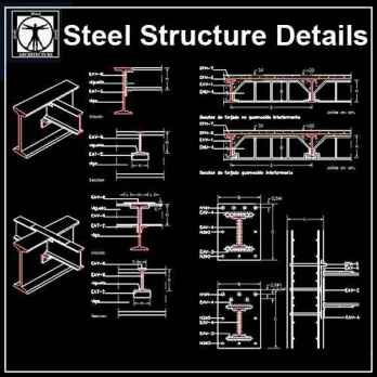 Steel Structure Details Archives - Autocad Design Pro-Autocad Blocks